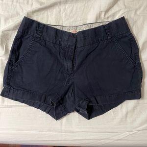 J Crew navy chino shorts